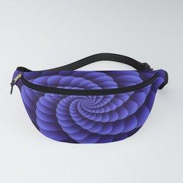 Trippy Nautilus Purple Swirl  / Nautical Swirl Digital Design Fanny Pack