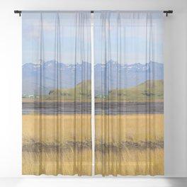 Icelandic fields Sheer Curtain