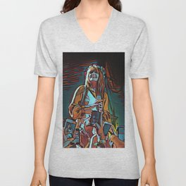 Abstract Concert painting Unisex V-Neck
