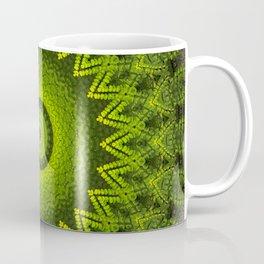 Mandala with green  fern leaves ornaments Coffee Mug
