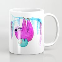sloths Mugs featuring Sloths by Annya Kai