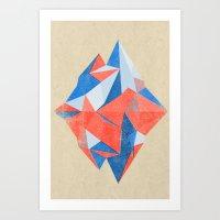 Mountain & Lake Art Print