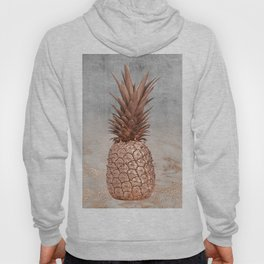 Pineapple in Glitter Marble Rose Gold And Concrete Hoody