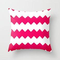chevron pink Throw Pillow