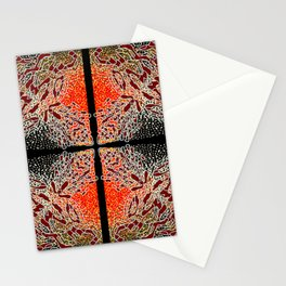 Fire Compass For Escape and Protection Stationery Cards