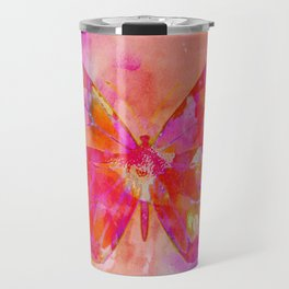 Mixed Media Artsy Butterfly Travel Mug