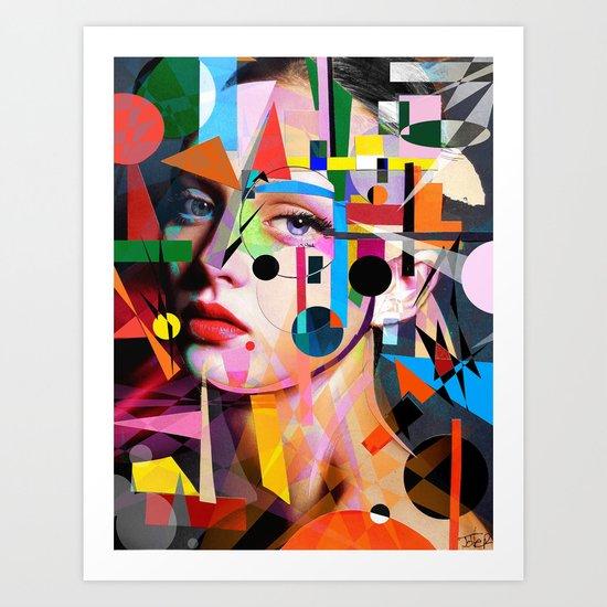 SHE LOVES COLORS Art Print