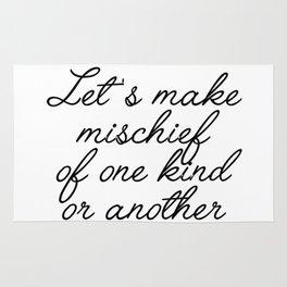 let's make mischief Rug