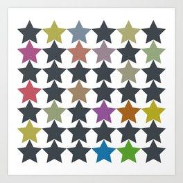 Colorful Star Pattern Art Print