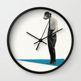 Down Dog Wall Clock