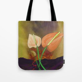 Last Flowers Before the Volcano Tote Bag