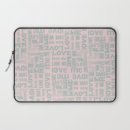 Valentine Love Me Typography Pattern - Mix & Match with Simplicty of life Laptop Sleeve