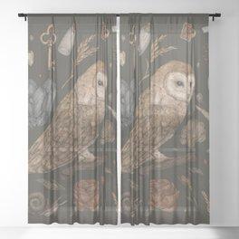 Harvest Owl Sheer Curtain