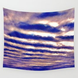 Rows of Clouds Wall Tapestry
