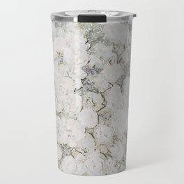 Ava, Flower Pattern, botanical Wallpaper, Unique and Contemporary, Simple Art, Teal and Pink, Floral Wallpaper Travel Mug