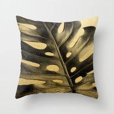 Golden Palms 02 Throw Pillow