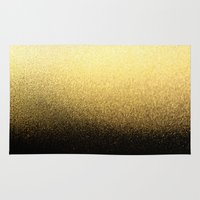 black and gold Area & Throw Rugs featuring Black & Gold  by Ciro Design