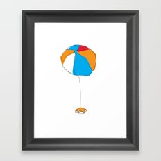 Crab and Ball Framed Art Print