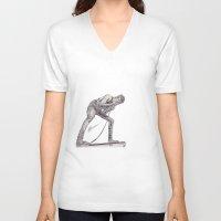 austin V-neck T-shirts featuring Austin Carlile by Ethan Raney Jarma