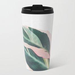 Pink Leaves II Travel Mug