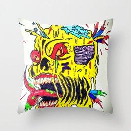 Skull Keeping Throw Pillow