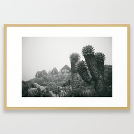 Kilimanjaro Huts III Framed Art Print
