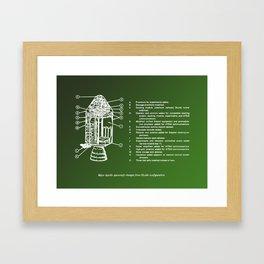 Catalog of the Command Module Framed Art Print