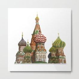 St. Basil's Cathedral - Moscow, Russia  Metal Print