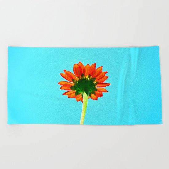 Flower orange 6 Beach Towel