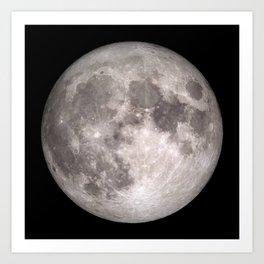 Space: Full Moon [UHQ] Art Print