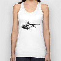 patriotic Tank Tops featuring Patriotic Squirrels by TypicalArtGuy