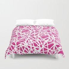 Ab Upside Down Pink Duvet Cover
