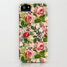 Vintage Botanicalia #illustration #pattern #botanical iPhone Case