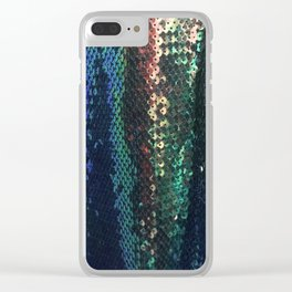 Exotic Rainbow Sequin Pattern Clear iPhone Case