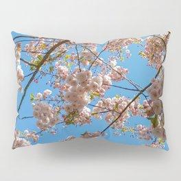 Cherry Blossoms and Blue Sky at Kew Gardens 2019 Pillow Sham