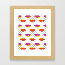 Lots of Kisses Framed Art Print
