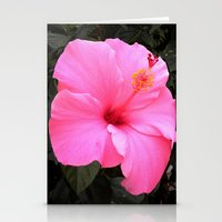 hot pink Stationery Cards featuring Hot pink by Dyneli