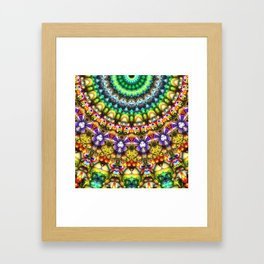 Colorful 3D Abstract Sun Framed Art Print