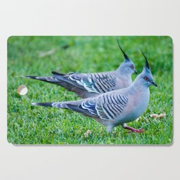 Pair of Crested Turtle Doves Cutting Board