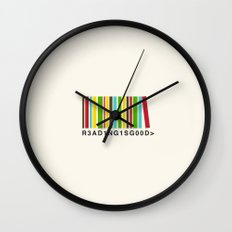 Reading is good Wall Clock
