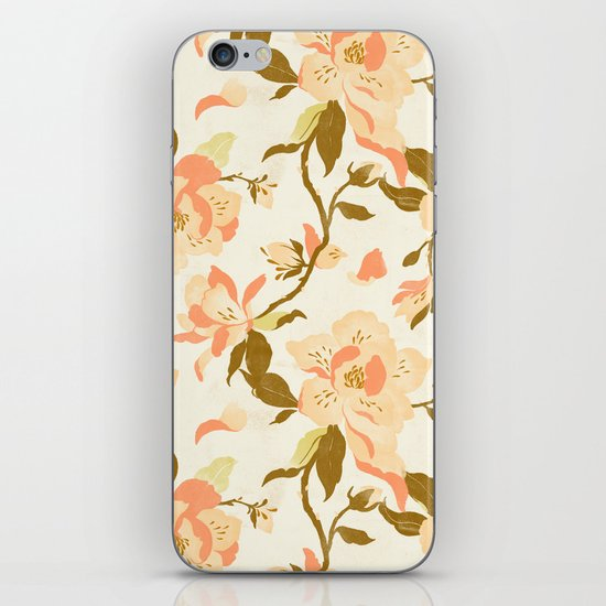 Magnolia Pattern iPhone & iPod Skin