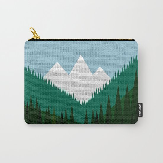 Pacific Northwest Mountains Carry-All Pouch