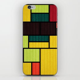 Mondrian Bauhaus Pattern #09 iPhone Skin