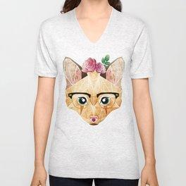 miss cat  Unisex V-Neck