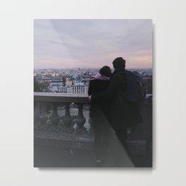 Couple in Paris Metal Print