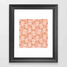 Uh-Oh Pattern Framed Art Print