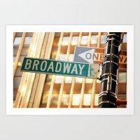 Broadway New York City Street sign Art Print