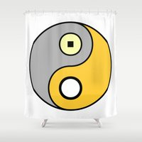 bender Shower Curtains featuring The DiMaggio by Gold Lining