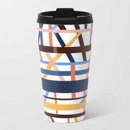 Stacked Lines Travel Mug