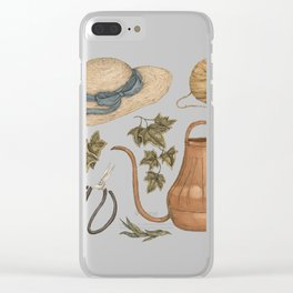 May Gardening Collection Clear iPhone Case